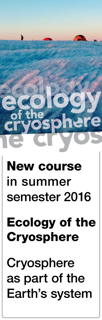 New course on the Ecology of the Cryosphere!