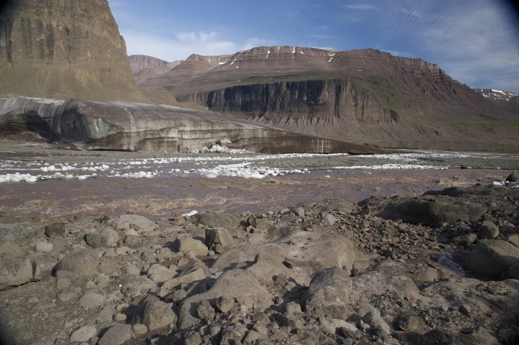 A glacier-fed river on Disko island, W Greenland